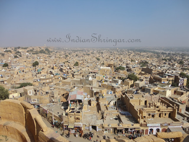 View of Jaisalmer city from the fort