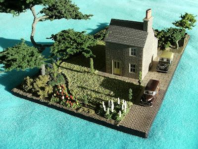 N gauge front garden