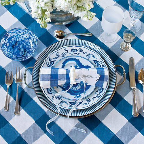 Setting the Blue and White Table  sc 1 st  Chinoiserie Chic : blue and white table settings - pezcame.com