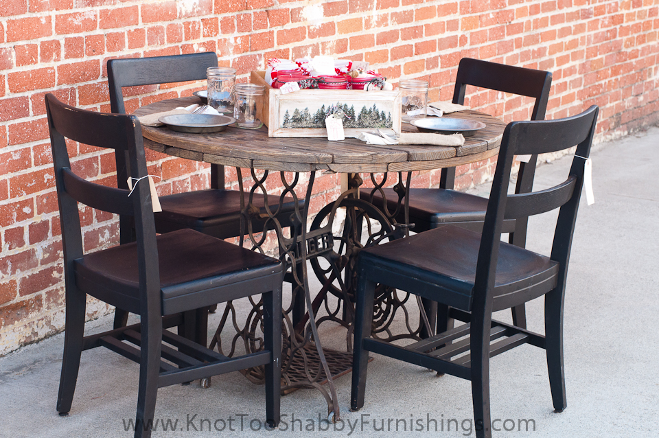 it seats four people comfortably - Kitchen Table Sewing