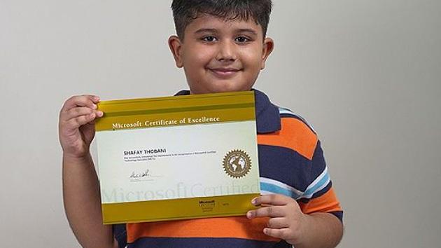 Micro-gênio da Microsoft de 8 anos Shafay Thobani