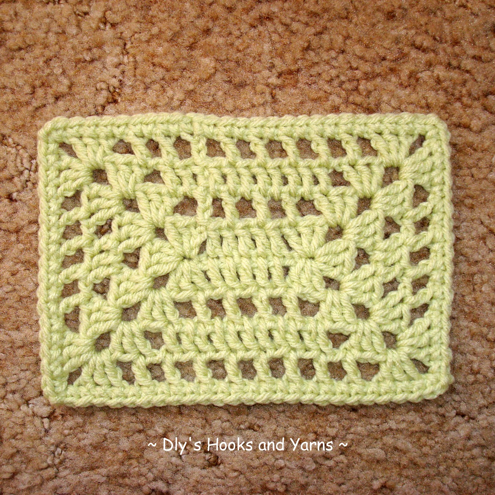 ... Hooks and Yarns ~: ~ poncho update, granny squares & a rectangle