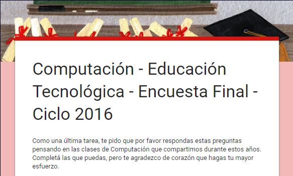 Encuesta Final - Ciclo 2016