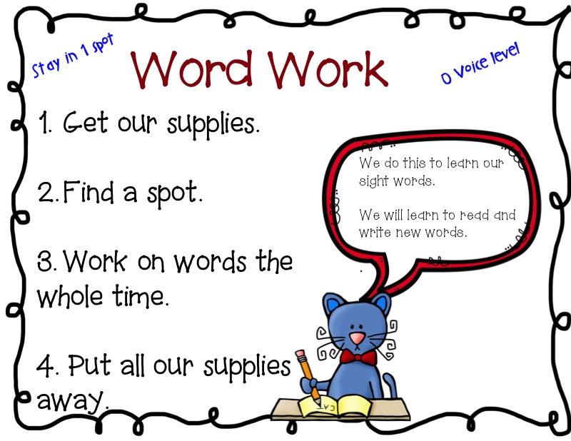2 Scoops of Kindergarten: Word Work, the beginning