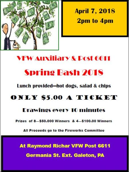 4-7 Spring Bash, Galeton VFW