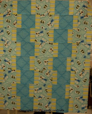 Marie's Up & Down quilt top