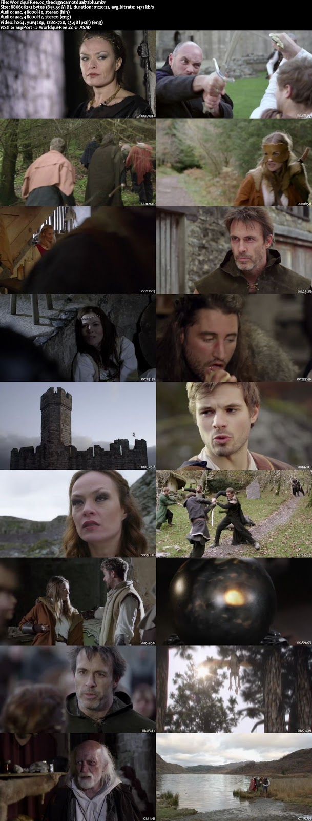 Dragons of Camelot BRRip 2014 Dual Audio 720p 800MB hollywood movie free download at world4ufree.cc