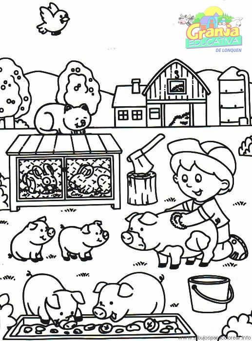 Dibujo de granjas - Imagui