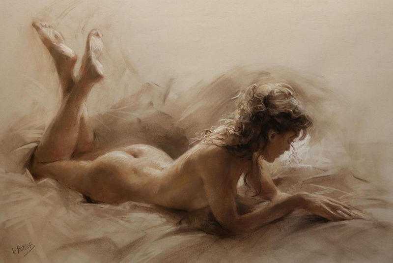 D.W.C. Beautiful Woman - Painter Vicente Romero Redondo