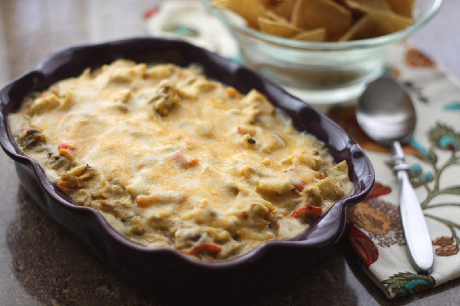 Barefeet In The Kitchen: Chicken Enchilada Dip