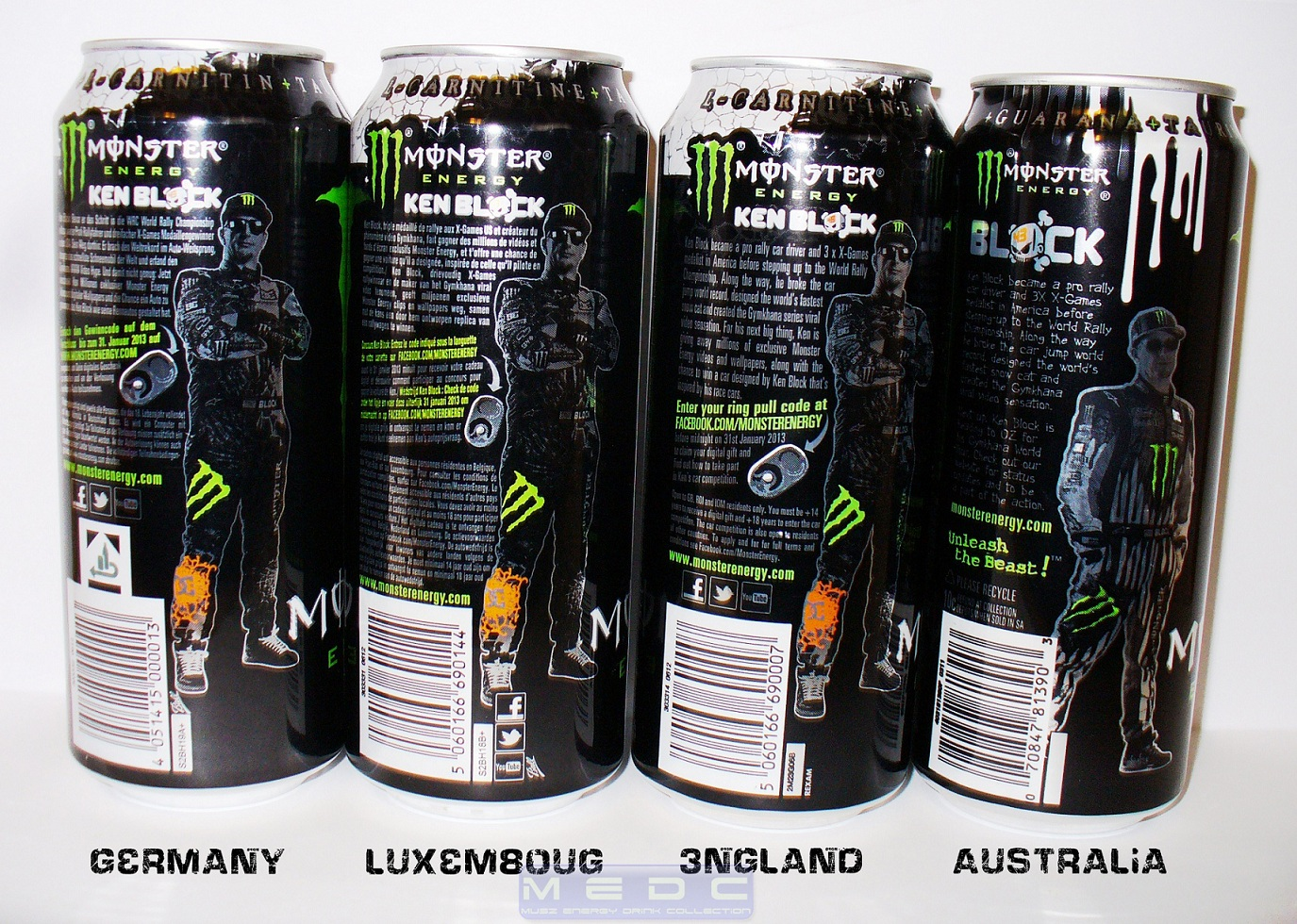 world of energy drinks cans from my collection 4 monster. Black Bedroom Furniture Sets. Home Design Ideas