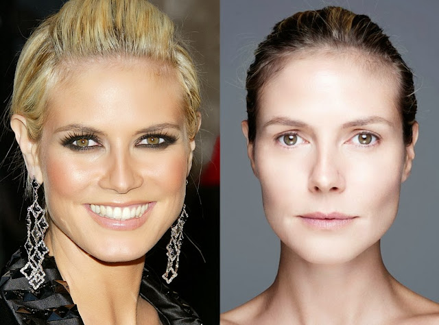 Heidi Klum with or without makeup