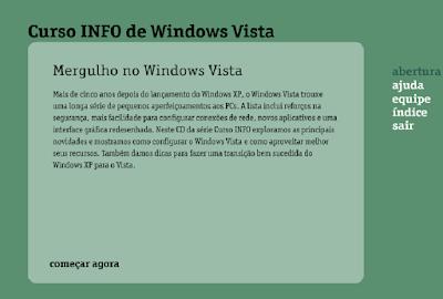 CURSO INFO DE WINDOWS VISTA ONLINE