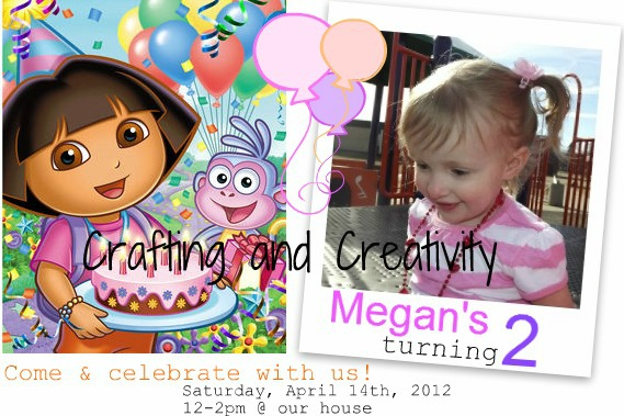 Crafting and Creativity: my daughter's 2nd birthday party- Dora theme!