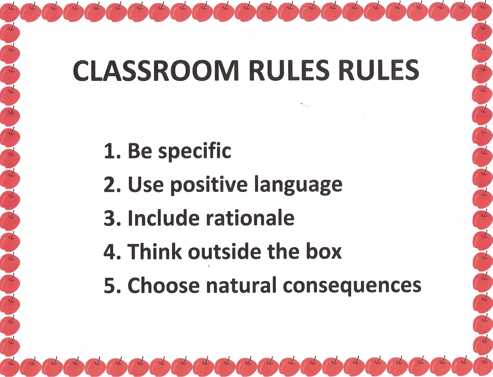 establishing ground rules and promoting appropriate This will give the chance to evaluate each individual's preferences and gives an overall view on how to maintain a level of courtesy and respect establishing ground rules adequate for the group being a teacher means also to be a role model and my behaviour will reflect on my students.