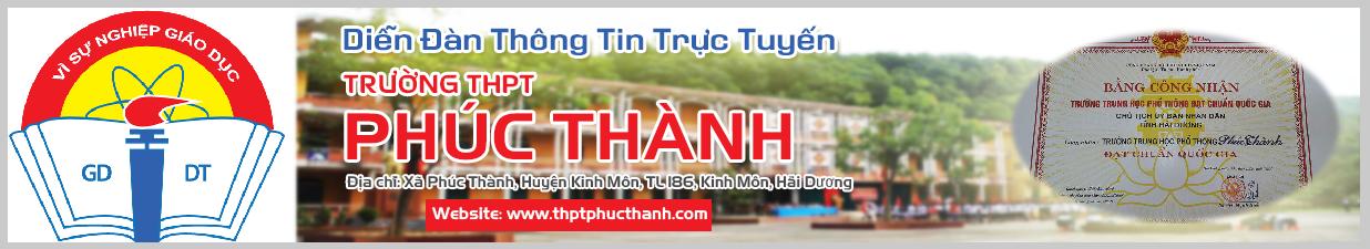 Diễn Đàn Trường THPT Phúc Thành - thptphucthanh.com