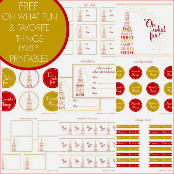 New Year´s Eve Party: Gold and Colors Free Printable Kit.