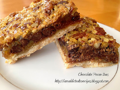 What a great sweet treat! Chunky chocolate pecan bars