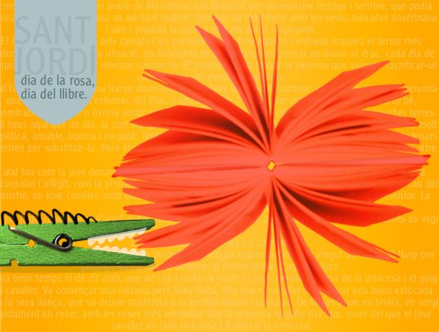il.lustració pel concurs de la Rosa de Sant Jordi, de la Vanguardia digital. ©Imma Mestre Cunillera