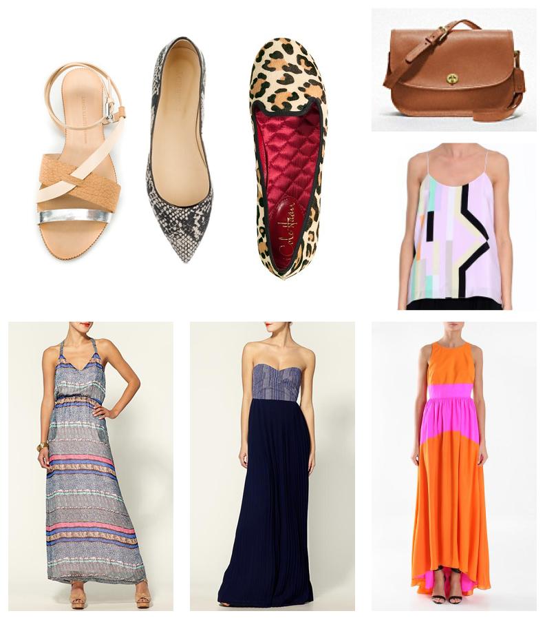 daydreamer wish list shoes maxi dress edition