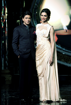 Shahrukh Khan & Deepika on the sets of Indian Idol Juniors