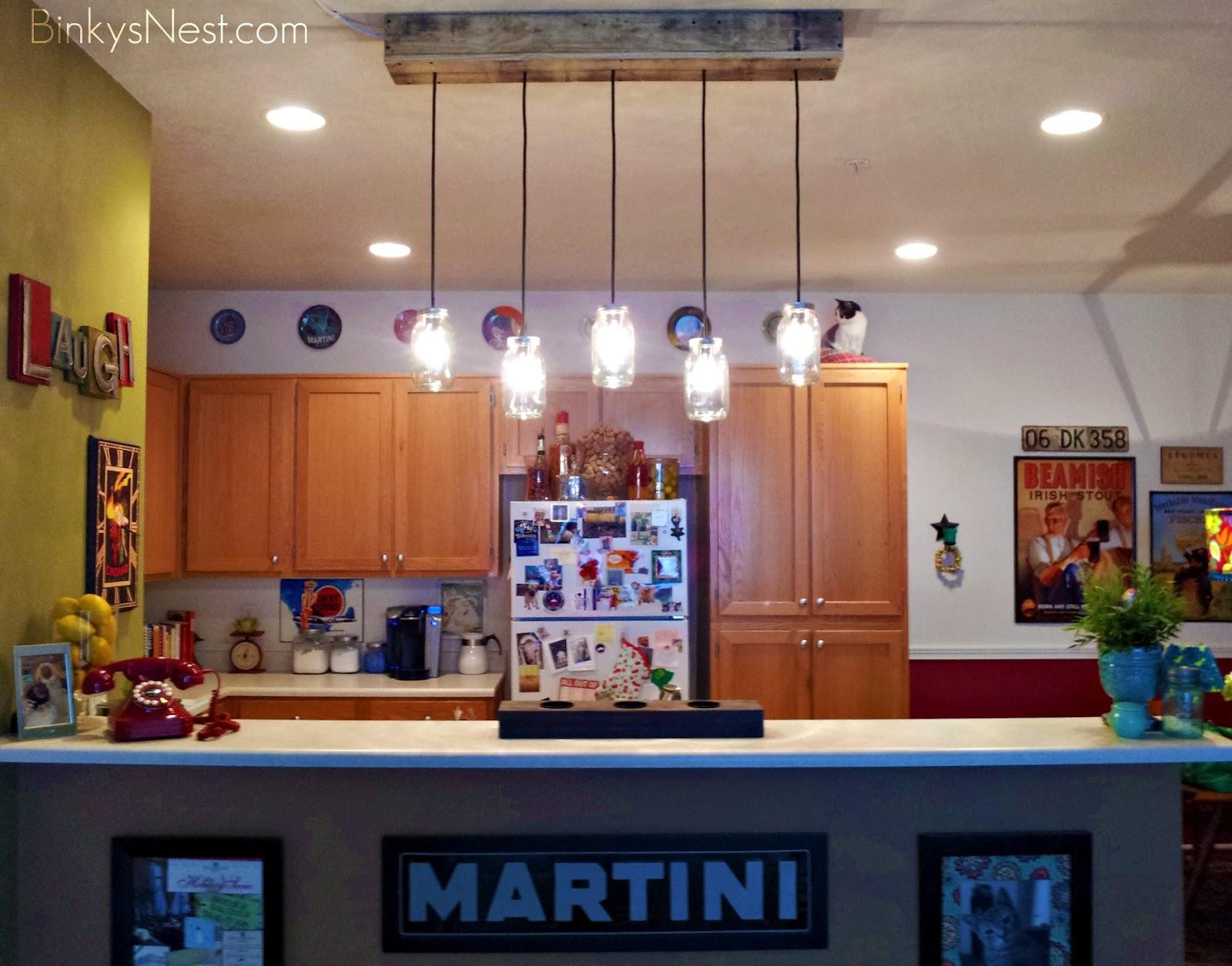 Mason Jar & Rustic Pallet Light Fixture DIY