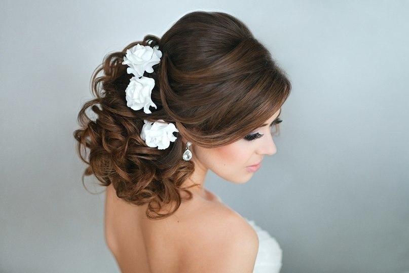 Прическа на свадьбу на короткий волос