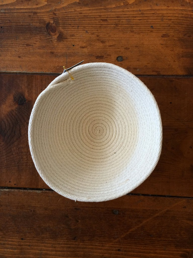 handcrafted string bowl, rope bowl