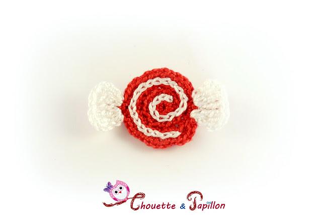 barrette enfant pour noël, barrette anti glisse, barrette bonbon de noël rouge et blanc