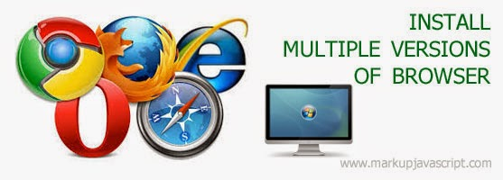 Installing multiple versions of browser on one machine