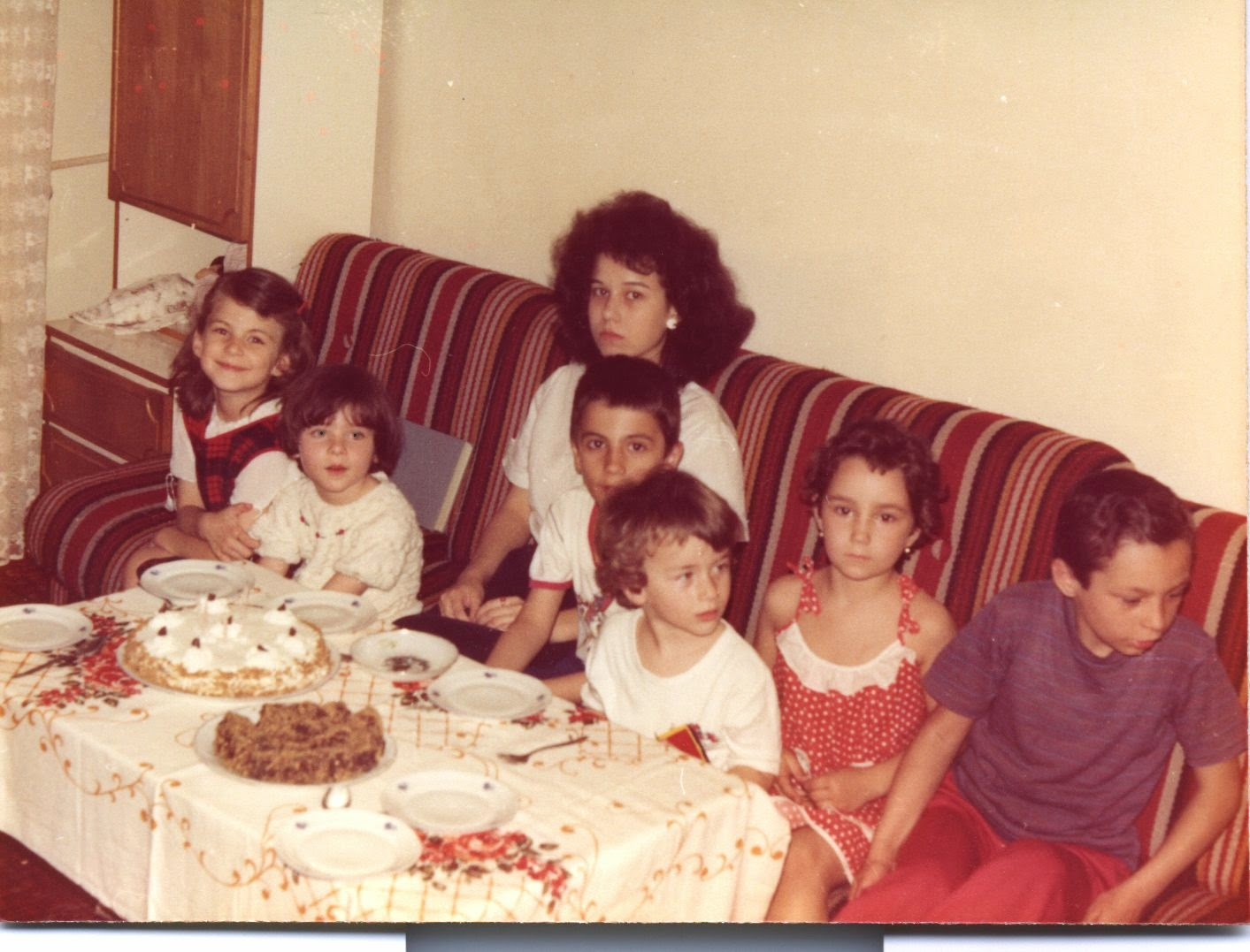 Olivia Maria, Silviu Marcov, Silviu Jr., Irina Craciunas' Birthday, May 17, 1985, Bucharest Romania