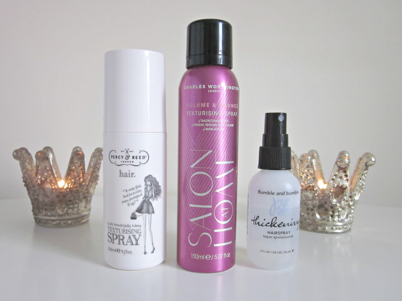 hair products percy and reed texturising spray charles worthington volume and bounce bumble and bumble thickening hairspray