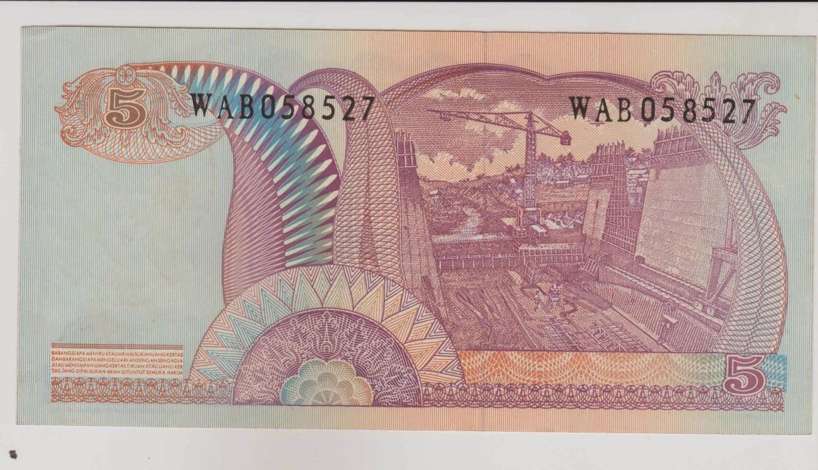 uang kuno Seri Soedirman tahun 1968 Pecahan 5 rupiah
