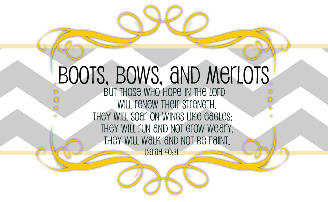 Boots, bows, and merlots.