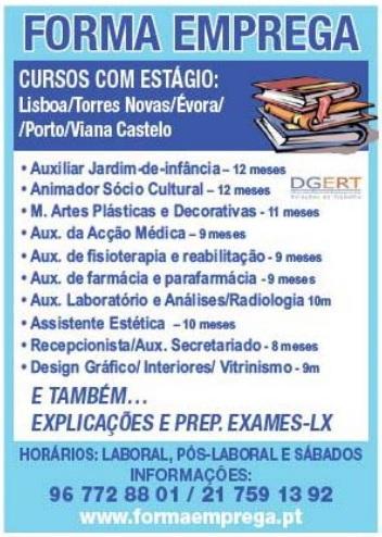 cursos com estagio em portugal