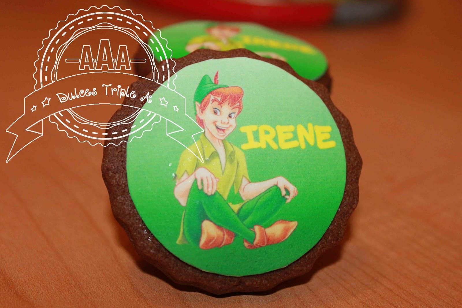 Galletas De Peter Pan Decoradas Con Papel De Azúcar. Tutorial