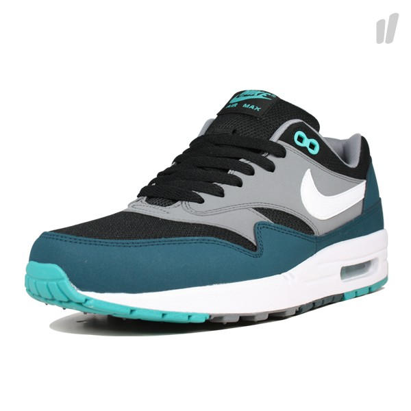 nike air max 1 essential schwarz t rkis grau sneakermag the sneaker blog. Black Bedroom Furniture Sets. Home Design Ideas