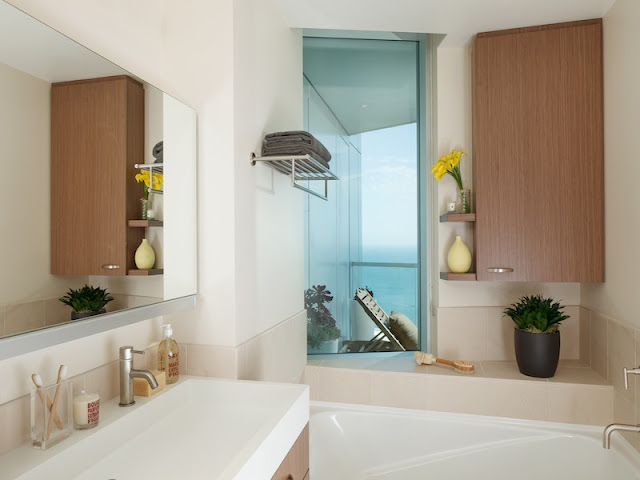 Picture of another modern bathroom with white furniture