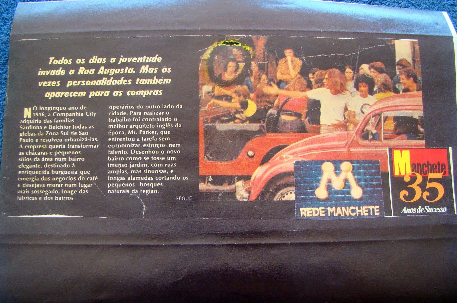 Revista Manchete - Rua Augusta