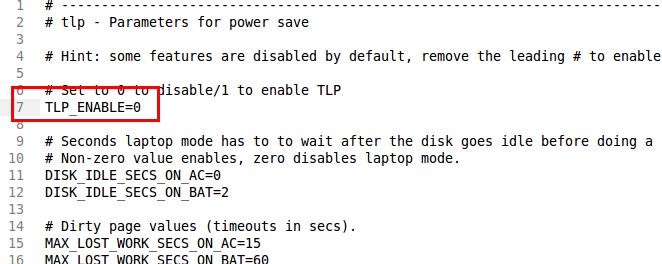 Mematikan service TLP ketika booting