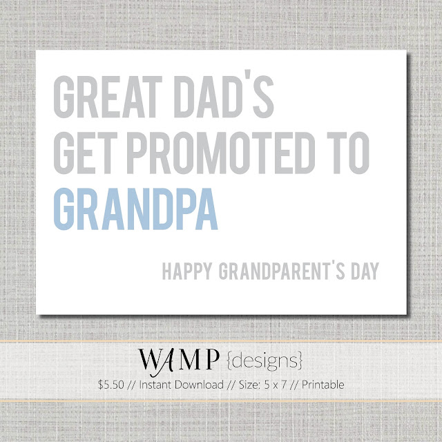 Grandparents Day Card Instant Download