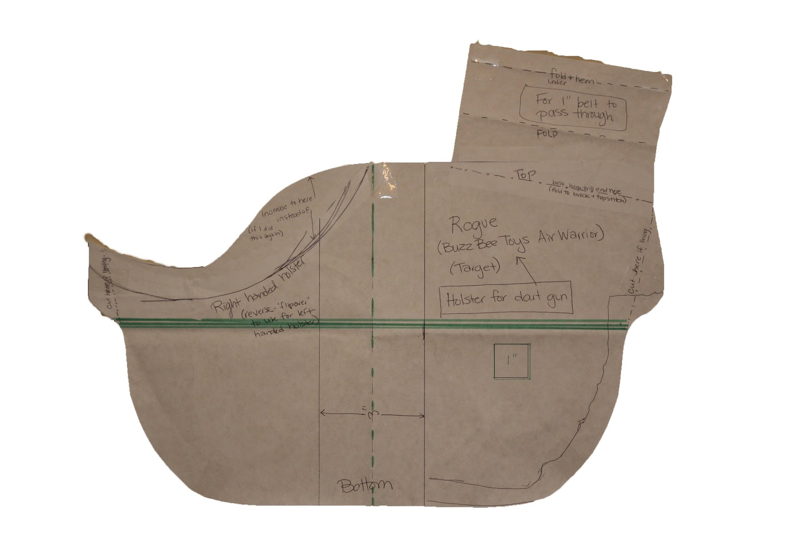 This is an image of Sassy Printable Holster Patterns