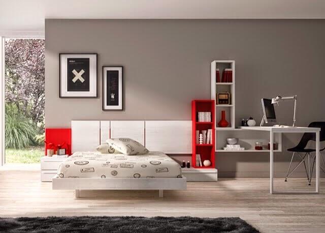 Dormitorios juveniles habitaciones infantiles y mueble for Dormitorios juveniles con cama grande