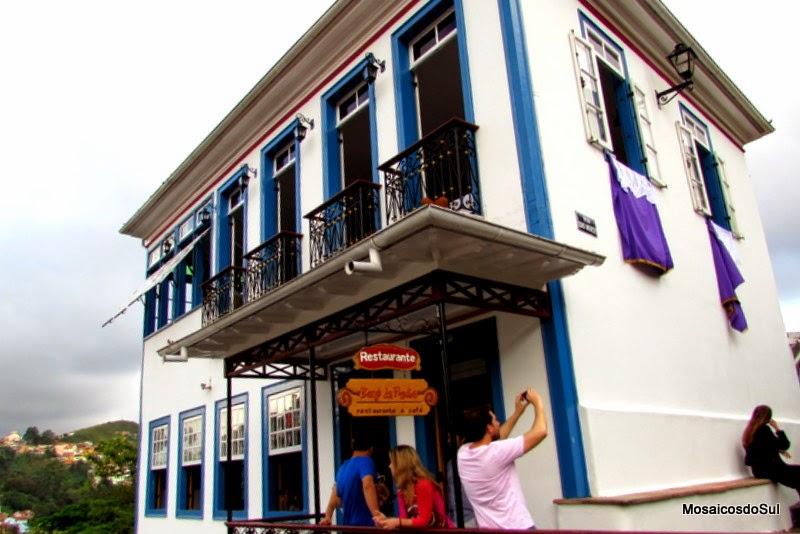 Fachada do Casarão onde fica o restaurante Bené da Flauta