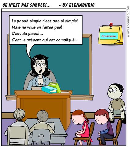 La classe de français: Le passé simple. Présentation audio, exercices et quiz