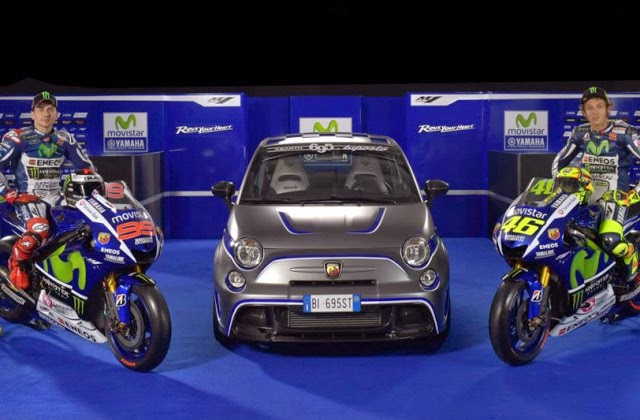 Abarth 695 Biposto Upon Fiat Mechanicals Of Official Vehicles Yamaha Racing Team