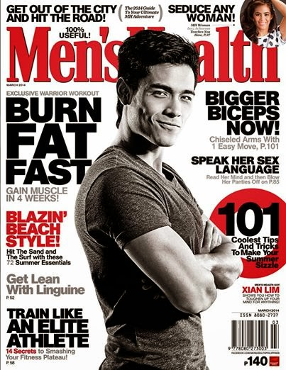 Xian Lim Covers Men's Health March 2014 Issue