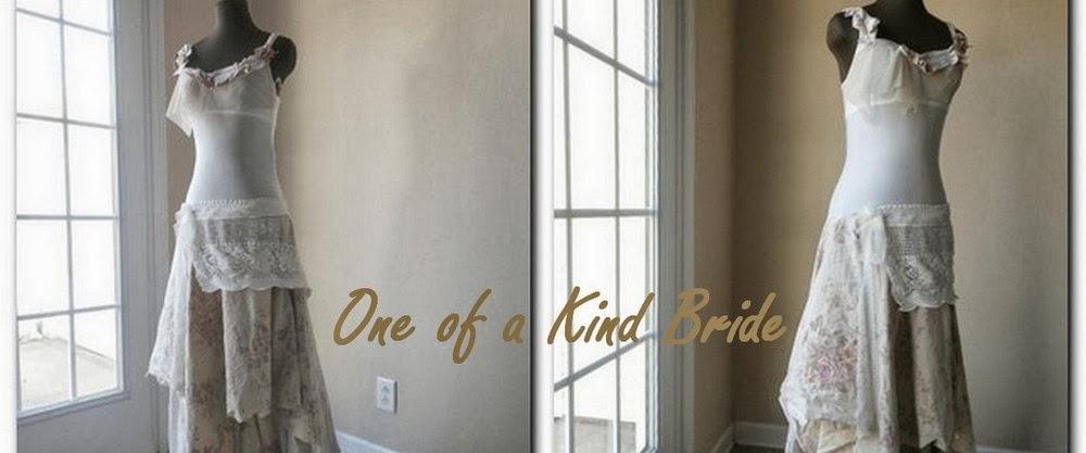 Boho Chic Woodland Fairy Wedding Dress - One of a Kind Bride