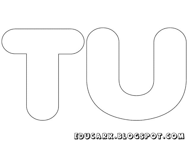 Molde de letras grandes tu