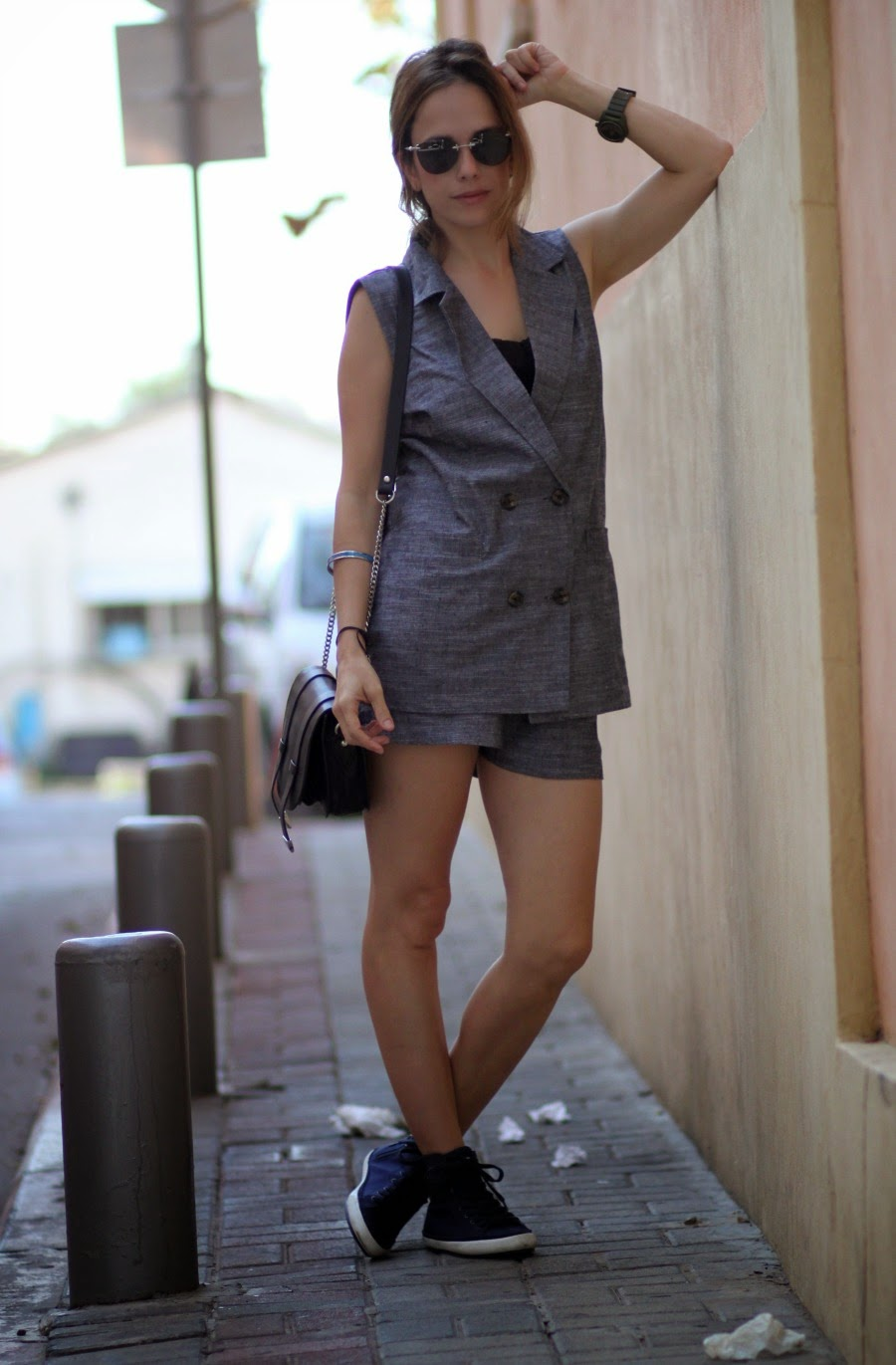 autumn/winter2015, fw15, greysleevlessjacket, planb, fashionblog, streetstyle, telavivfashion,